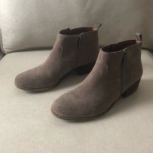 Grey suede Lucky brand booties